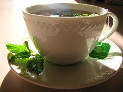 Mint, tea and me make three
