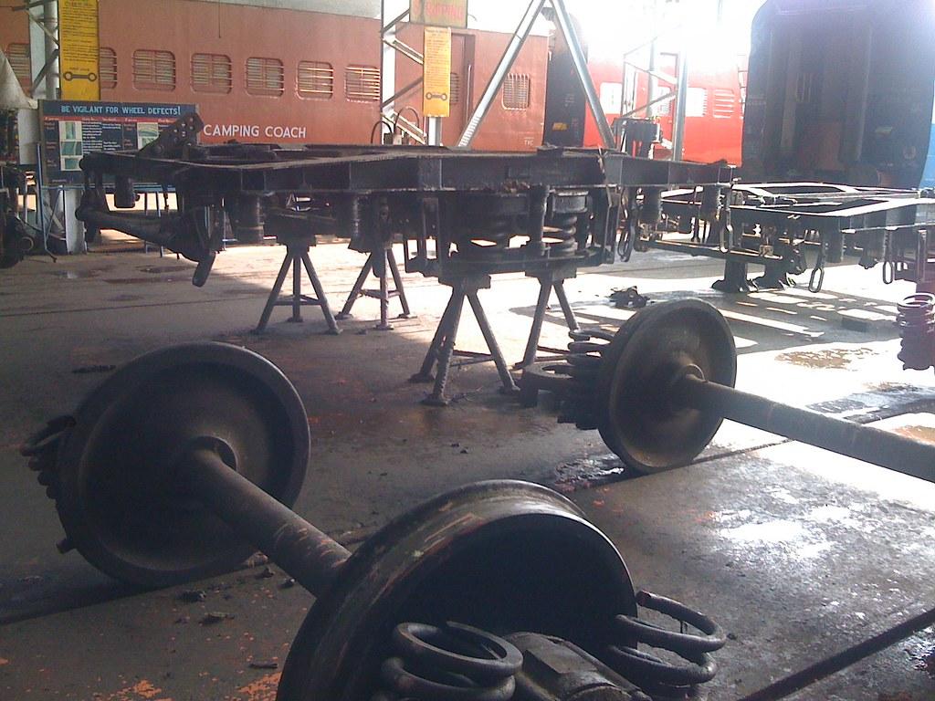 Wheels disassembled