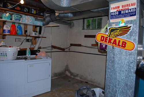 Basement where the door would go