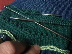 picot cuff before folding