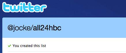 Twitter / @jocke/all24hbc – en twitterlista för #24hbc