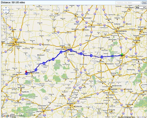Passed the 500-mile mark!