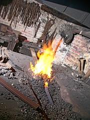 Barre de fer dans la forge