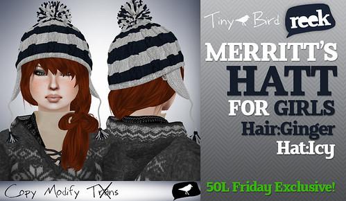 Merritt's Hat For Girls - Icy