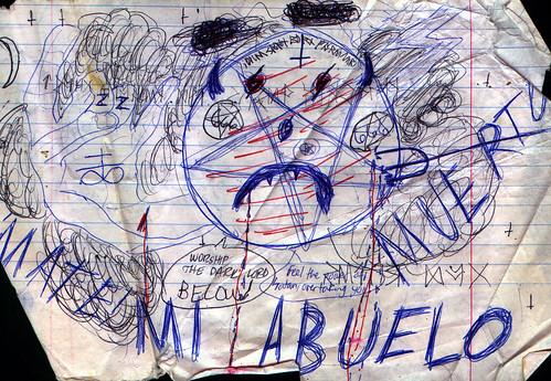 1989ish - Spanish class - mi abuelo