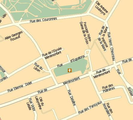 rue henri chevreau - mappy