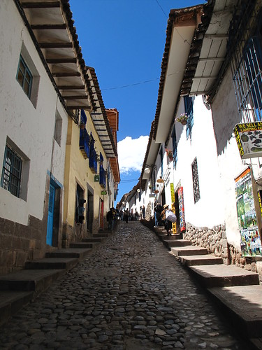Narrow streets in the district of San Blas