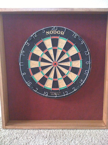 Dartboard Cabinet Back (with Dartboard)