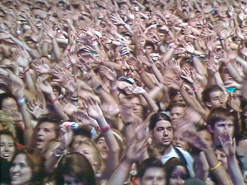 Crowd at a Killers concert
