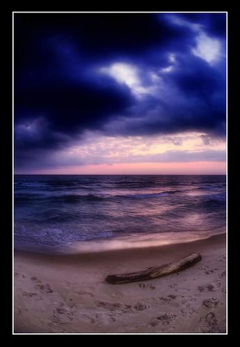 Sunset without Spouse - Lake Michigan
