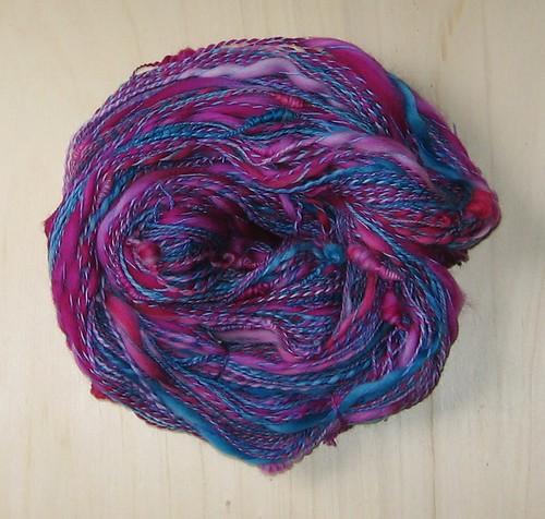Art Yarn blau pink I