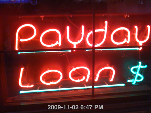 Payday Loans Neon Sign by rinkjustice