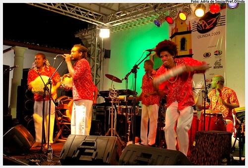 Grupo Bongar se apresenta durante o 5º Olinda Jazz, em 2009. Foto: Ádria de Souza/Pref.Olinda