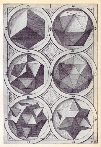 Terra (b) - Perspectiva Corporum Regularium -  Wenzel Jamnitzer 1568