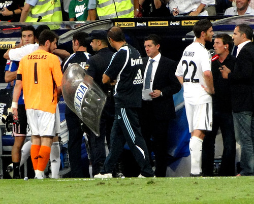 End of match - Casillas leaving the pitch