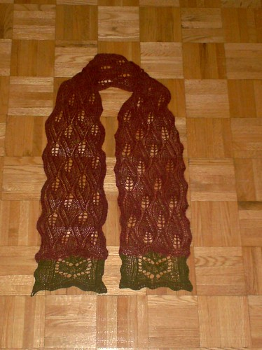 Autumn Leaves Scarf - Complete