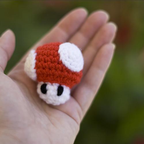 Mini Mario Mushroom Amigurumi Amys Odyssey