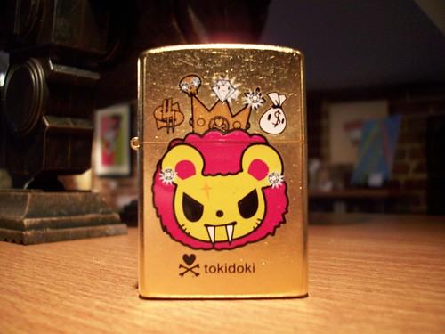 Gold Cat Zippo - Tokidoki