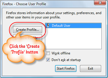 1. Multiple-Firefox-Instance-Create-Profile-Button