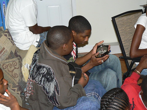 Computer Literacy Program - Armani and DJ with Harddrive