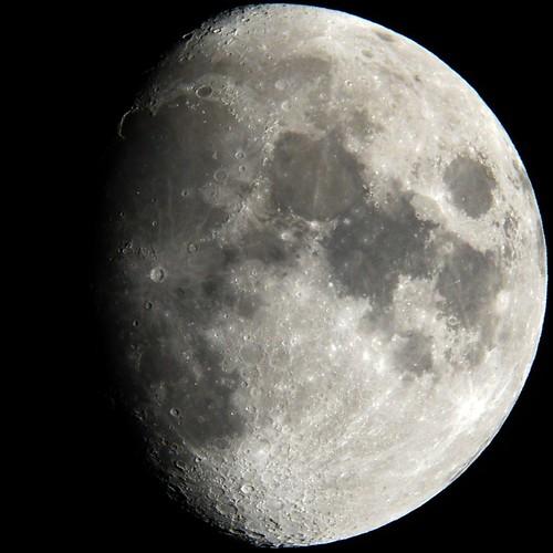 Waxing gibbous July Moon