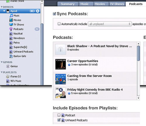 Fixing iTunes smart playlist to include my podcasts. (by absoblogginlutely)