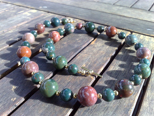 Indian bloodstone necklace