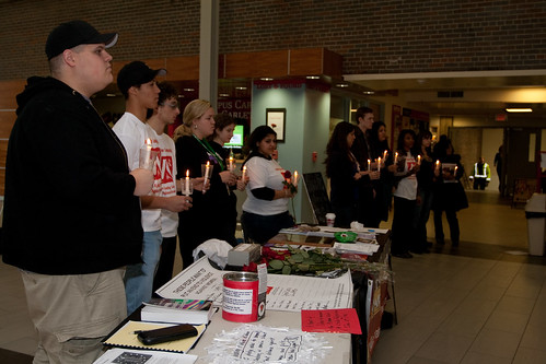 Candlelight vigil on campus