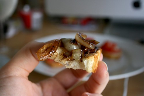 Caramelized Onion Crostini