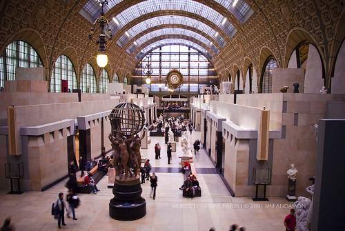 Central aisle, Musée d'Orsay (facing west)