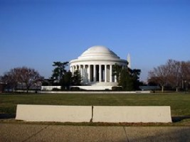 jersey barriers and the Jefferson Memorial (by: Daniel Lobo, creative commons license)