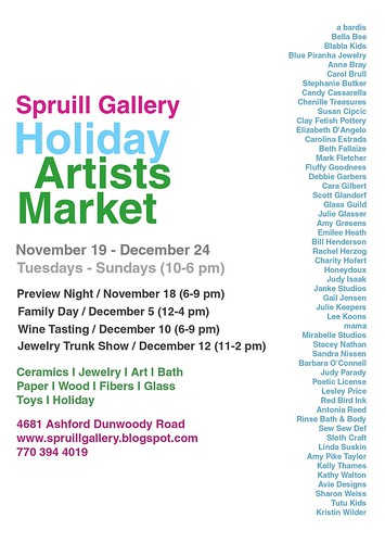 Spruill Gallery Holiday Artists Market