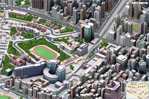 edushi: 3D Map of Hong Kong (E都市: 香港地图 三维地图 电子地图 公交查询) / 2009-11-17 / SML Screenshots