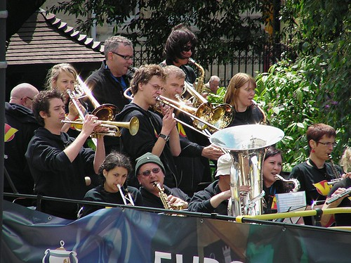 Wonderbrass-European Cup parade through Cardiff City Centre