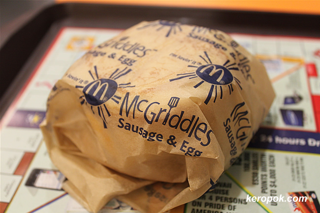 Mcgriddles Sausages and Egg