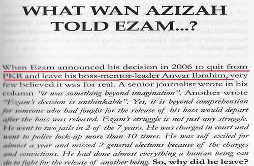 Wan Azizah Told Ezam