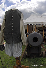 This dummy got too close to a cannon - Plains of Abraham Re-Enactment, Founders Day 2009, Ogdensburg, New York