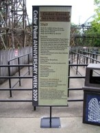 Cedar Point - Mine Ride Anniversary Sign