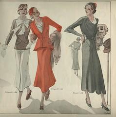 1932 -French patterns, women's fashion