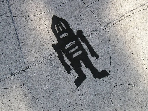 Stikman in Black, 20th Street and Massachusetts