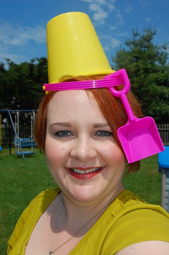 Pose with a bucket on your head!