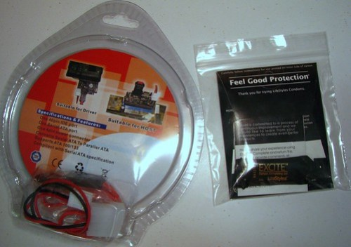 IDE to SATA adapter and LifeStyles Skyn condom