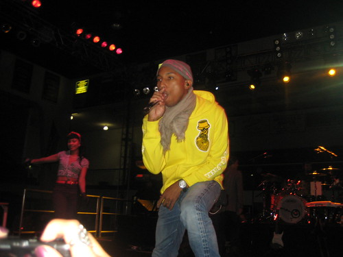 Although lead singer Pharell suffered a migraine through the Homecoming concert, students were enthused to see N.E.R.D perform.  Photo by Akima Brackeen/Foghorn