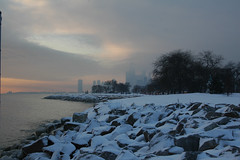 Chicago Lakefront at sunrise