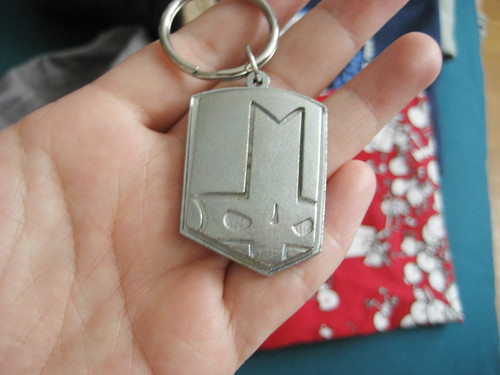 Metal Castle Crashers keychain