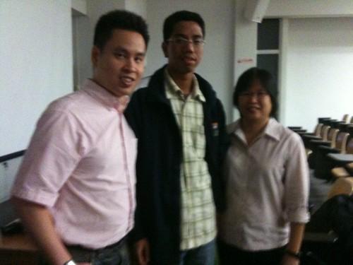 Kevin, Hazman, Carolyn @ NTU talk