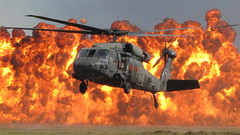 S.C. Guard Black Hawk hovers during demonstration