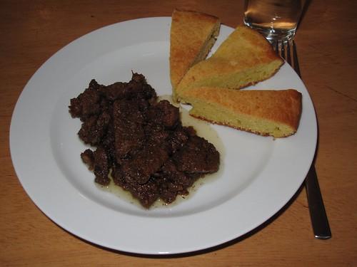 Chili con Carne und Maisbrot 2