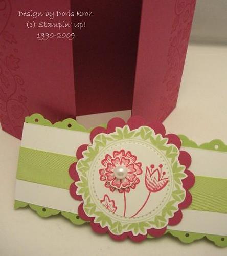 Hochzeitskarte Rosenrot Verschluss