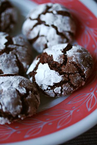 Chocolate-Mint Crinkle Cookies
